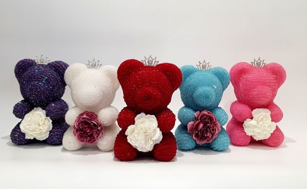 Crystal bear with all colours
