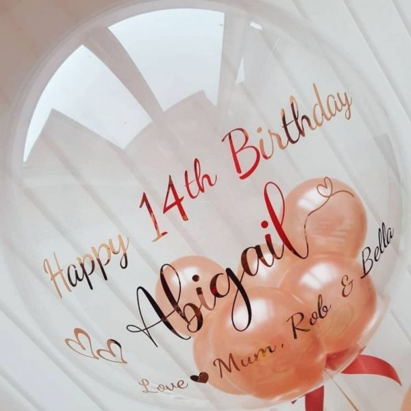 personalised rose gold balloon