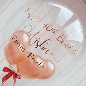 rose gold balloon