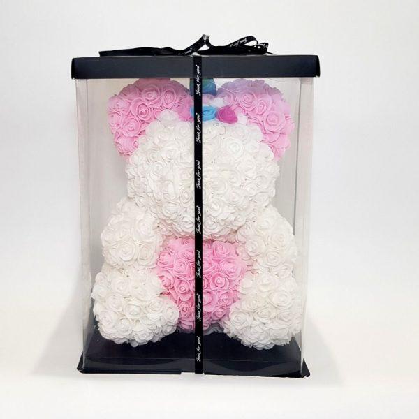 unicorn rose bear in a gift box